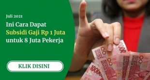Subsidi Gaji Rp 1 juta untuk Pekerja
