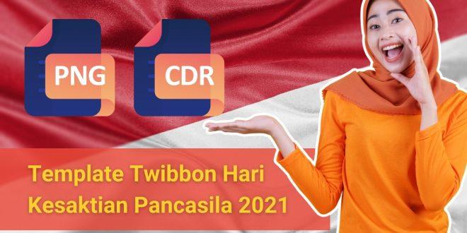 Template Twibbon Hari Kesaktian Pancasila CDR PNG Download