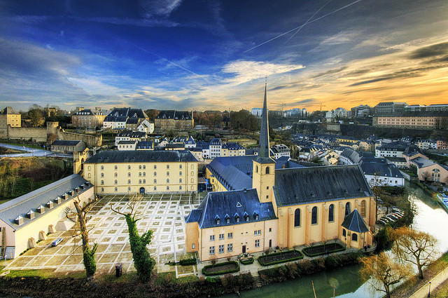 """""""Luxembourg Neumünster und Johanneskirche"""" by Wolfgang Staudt on Flickr"""