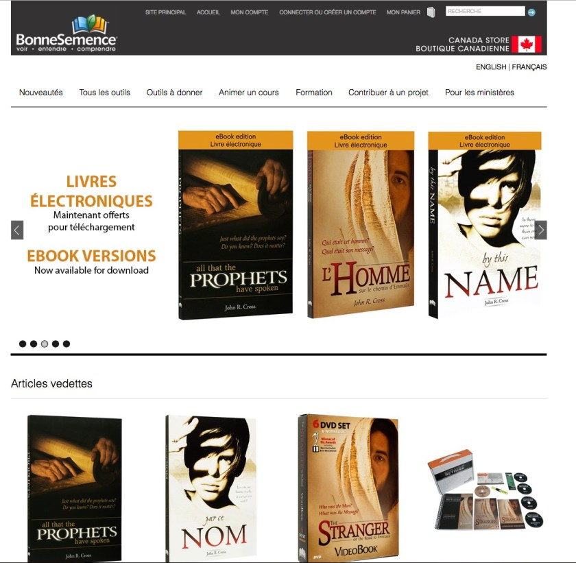 GoodSeed Canada Store now in French and English