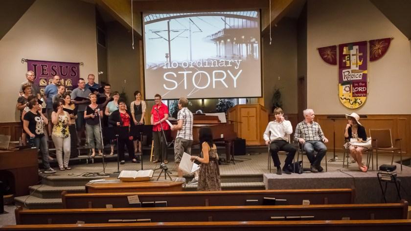 No Ordinary Story dress rehearsal