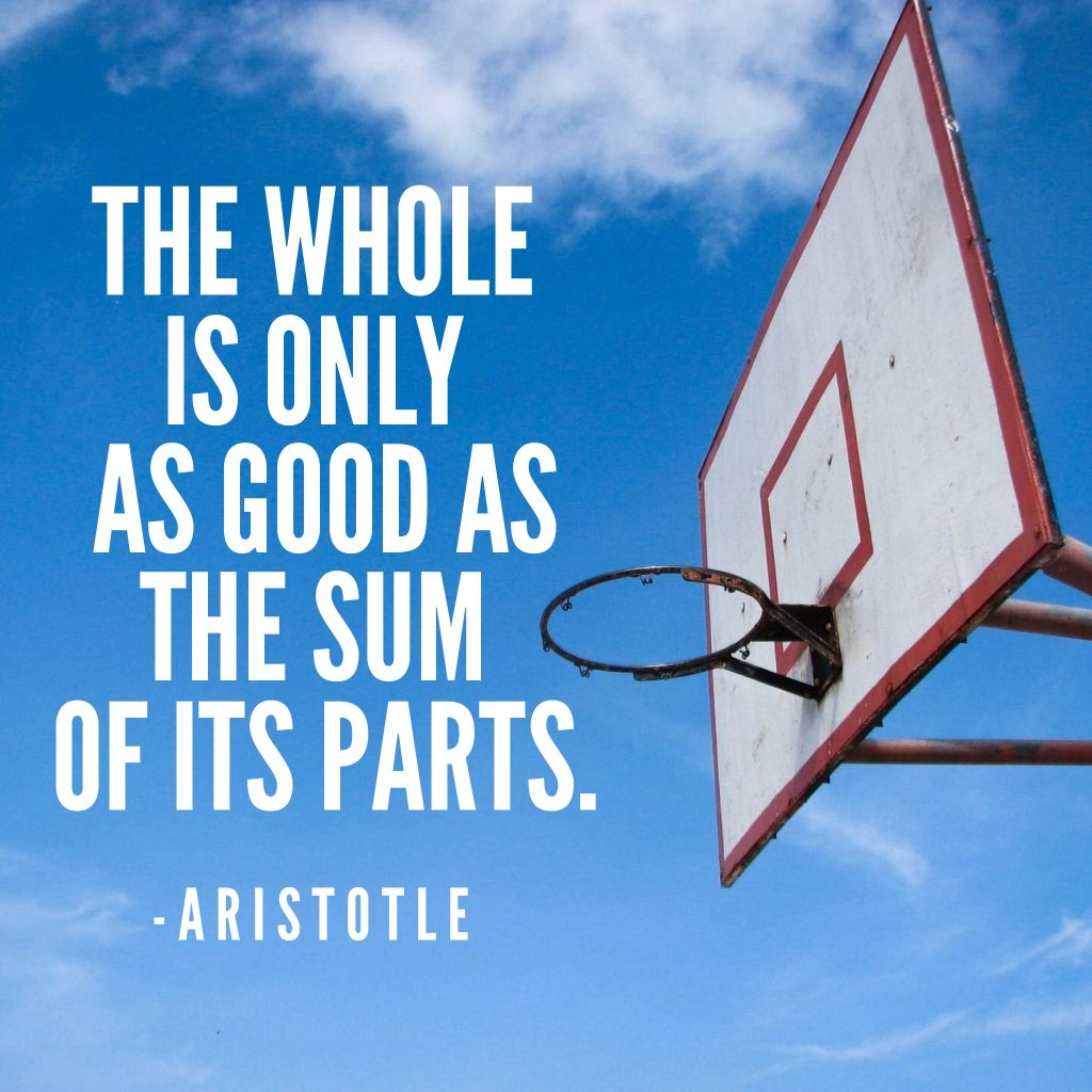 Aristotle quote sum of its parts