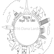 Fashionista coloring page sample
