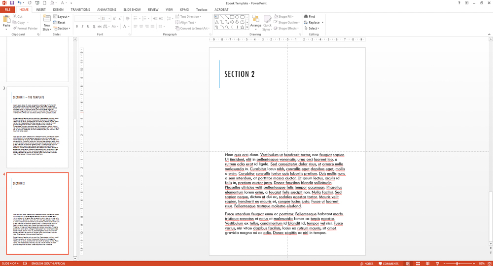 Powerpoint ebook - add text to the book