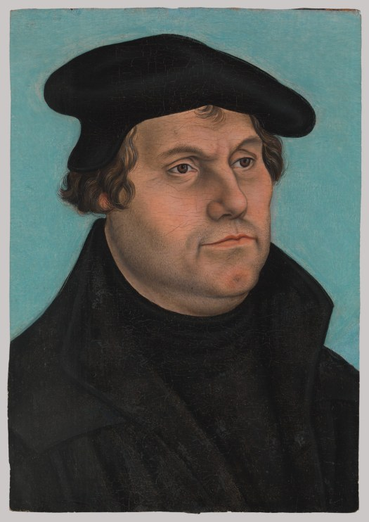 Martin Luther (1483–1546) Artist: Workshop of Lucas Cranach the Elder  c. 1532 Oil on wood