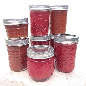 Vanilla rhubarb butter jam