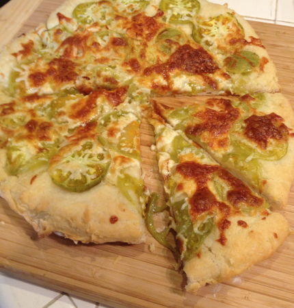 green tomato pizza