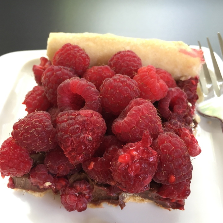 Chocolate Raspberry Tart for #Choctoberfest