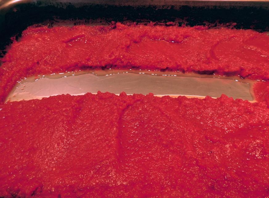 tomato paste streak