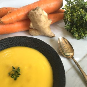 Carrot Ginger Soup with Thyme