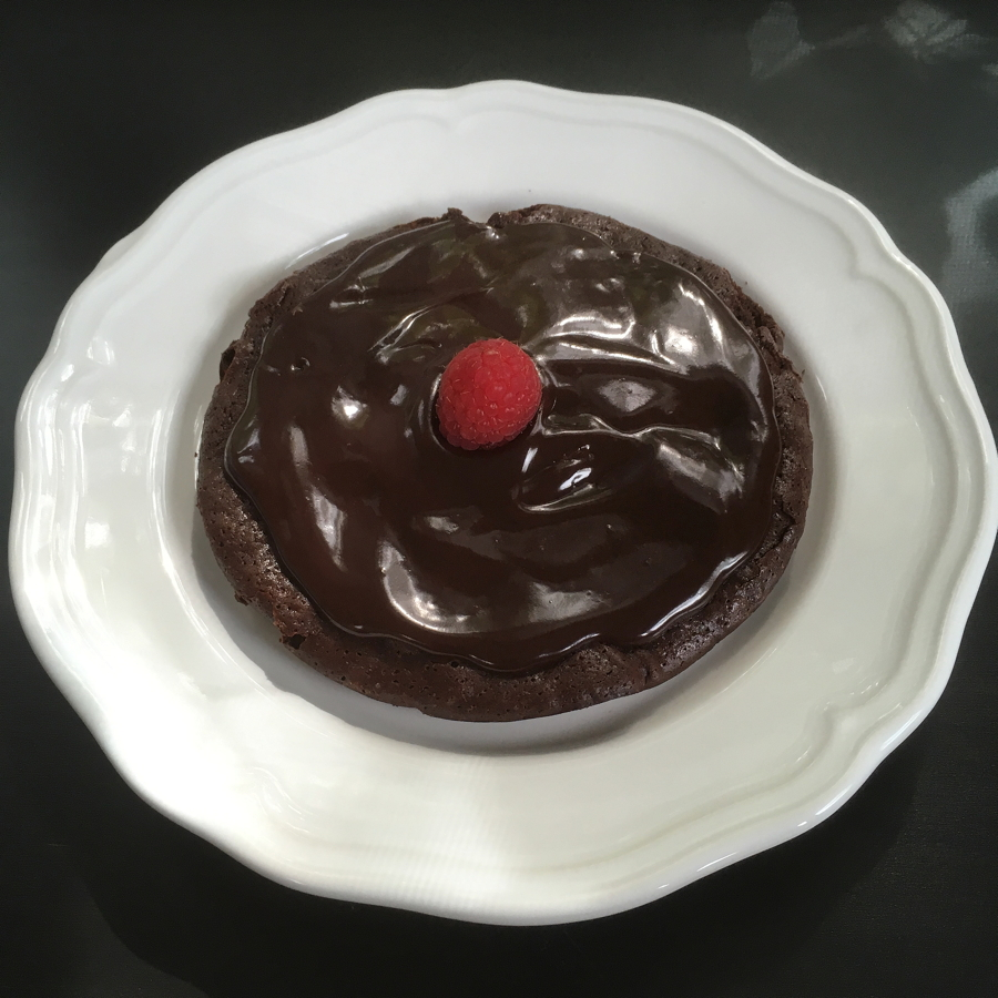 flourless chocolate cake for 2