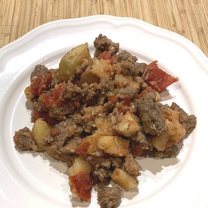 sausage hash on plate
