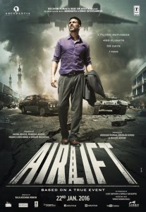 """Akshay Kumar posts the poster of """"Airlift"""": The thrilling introduction revealed"""