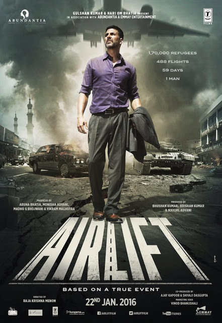 "Akshay Kumar posts the poster of ""Airlift"": The thrilling introduction revealed"