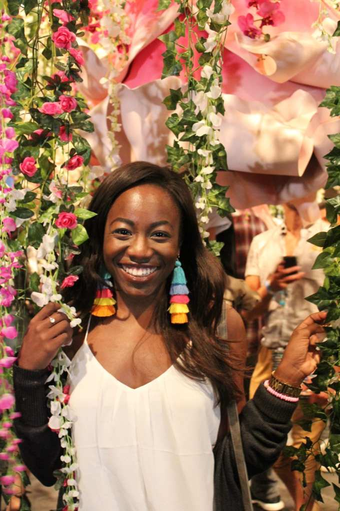 My rainbow tassel earrings made a STATEMENT at new york fashion week. Shop the look on the blog! GoodTomicha | Southern Fashion and Lifestyle Blogger