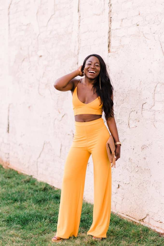 Black style blogger, GoodTomiCha, shares her top two-piece sets for spring on the blog! This style is under $30 and even perfect for petite girls, too.