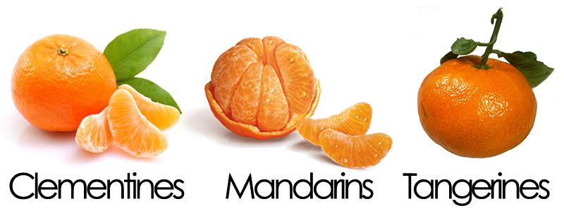 clementines tangerines
