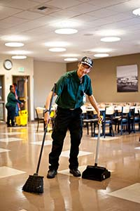 Janitor at Work