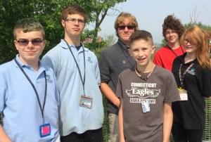 (left to right): Tyler Pereau, Easton Ronalter, Edward Jobes, Josh Hockley, Jack MacKay, and Jasmine Kermode.