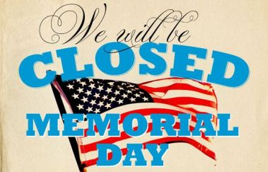 Image result for we are closed for memorial day