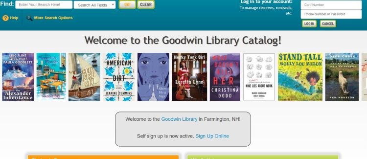 Goodwin Library catalog