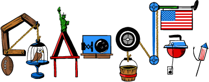 Happy 4th of July and Happy Birthday Rube Goldberg!