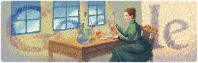 Marie Curie'nin 144. doğum günü