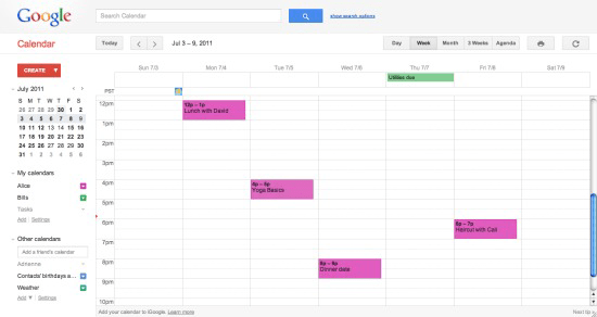 Google Calendar Changes