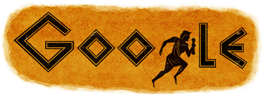 2500 years from the first Marathon - (Greece) google logo