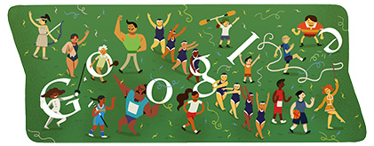 Google Doodle: Closing Ceremony for 2012 Olympic