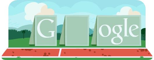 Новый олимпийский дудл Гугла - Бег с препятствиями
