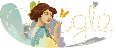 Google Doodle: Solomiya Krushelnytska's 140th Birthday