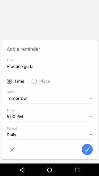 Set a reminder to practice guitar every day