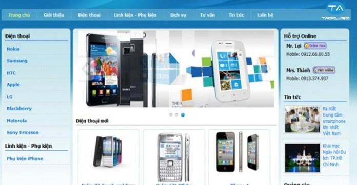 Những điều cần cần lưu khi thiết kế website bán điện thoại