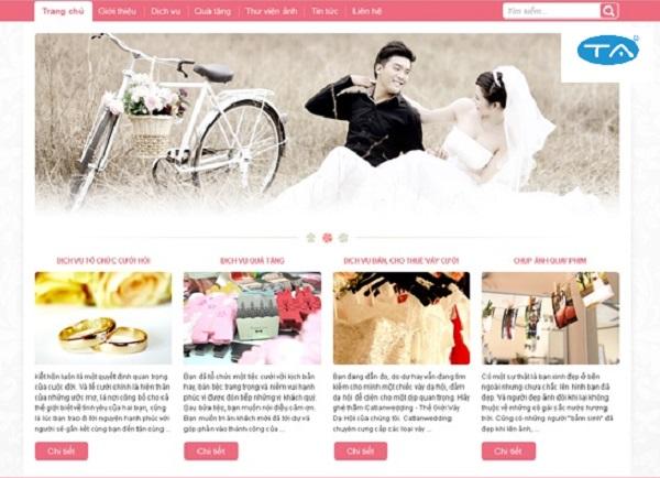 Tại sao phải thiết kế web ảnh viện áo cưới chuyên nghiệp, ấn tượng?