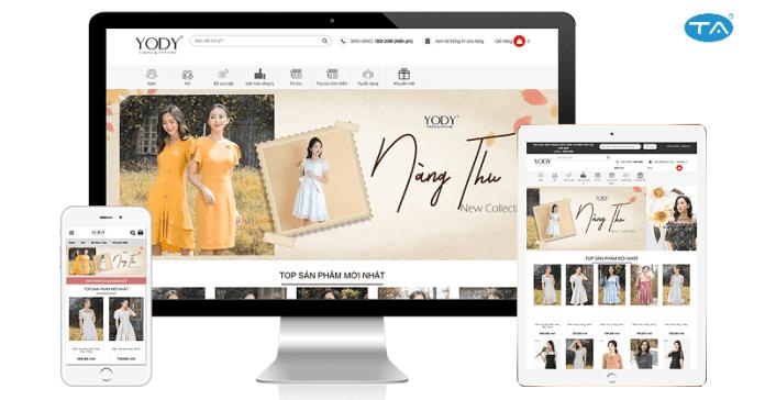 Thiết kế website bán hàng thời trang, quần áo