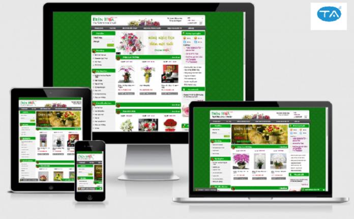 Thiết kế web bán hoa tại Thuận An