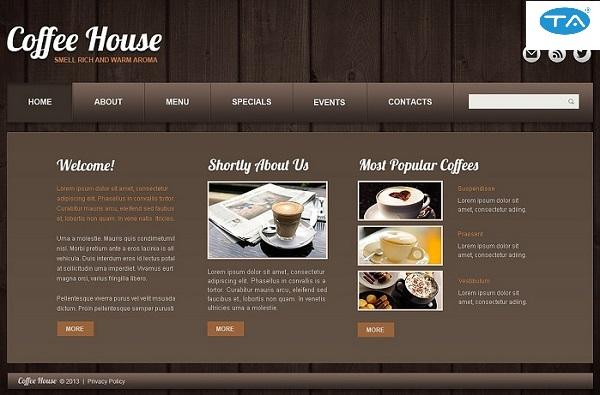 Thiết kế website quán cà phê chuyên nghiệp