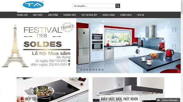 Lợi ích của thiết kế web bán thiết bị nhà bếp chuẩn SEO, chuyên nghiệp