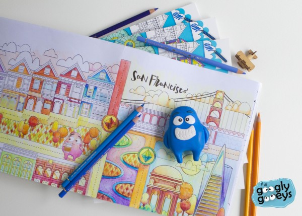 Around the World with the Googly Gooeys Travel Coloring Book