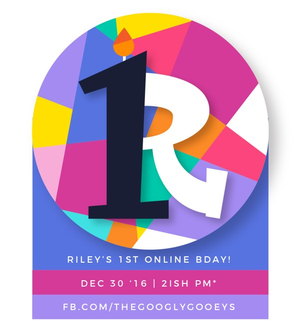 Riley's First Birthday Facebook Invite