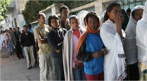 eritreans in line