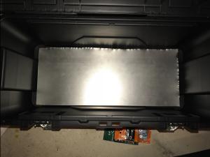 Metal sheet installed.