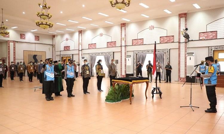Kapolda Sumut Pimpin Penandatanganan Pakta Integritas dan Pengambilan Sumpah Seleksi Penerimaan Anggota Polri T.A. 2021