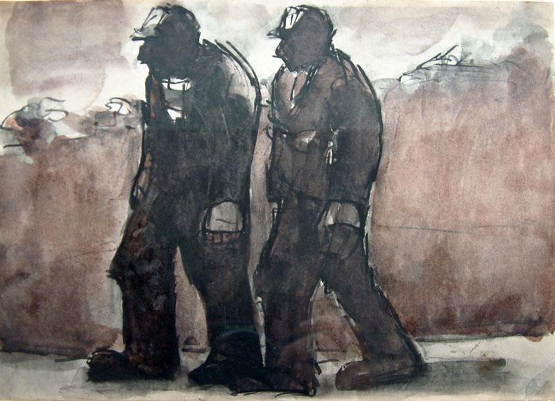 دو معدنچی در جاده - جوزف هرمان