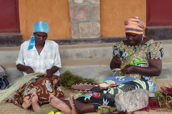 Local villagers in Rwanda