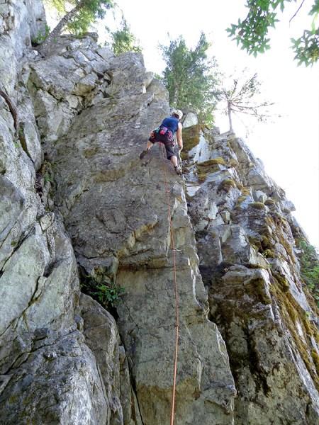 Climbing at Chek Canyon