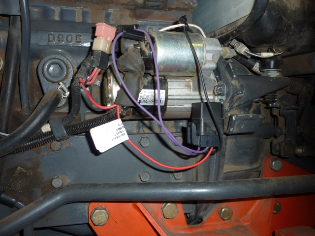 The magic relay that fires the solenoid that starts the tractor