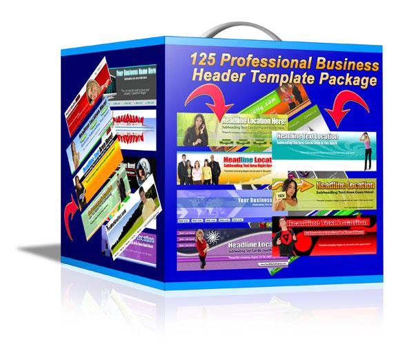 【MRR特級轉售權】125個專業商務Banner標頭圖庫