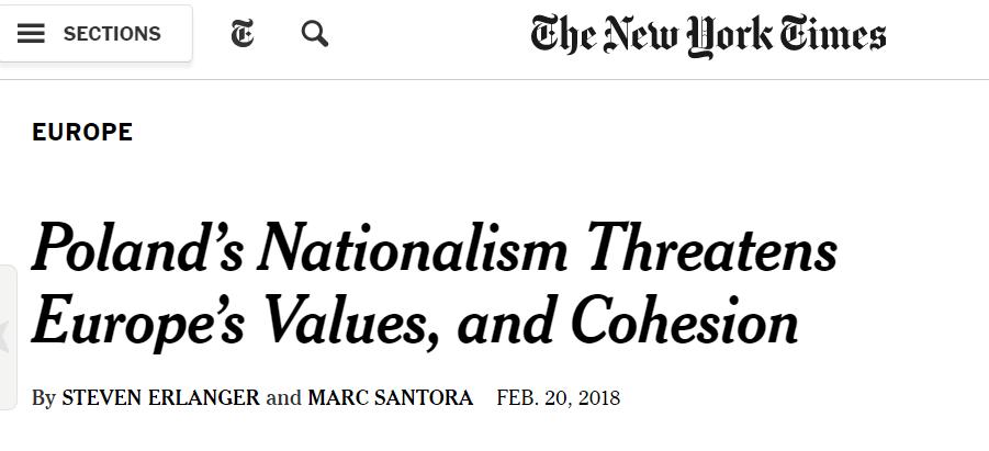 Польский национализм угрожает ценностям Европы и сплоченности - The New York Times